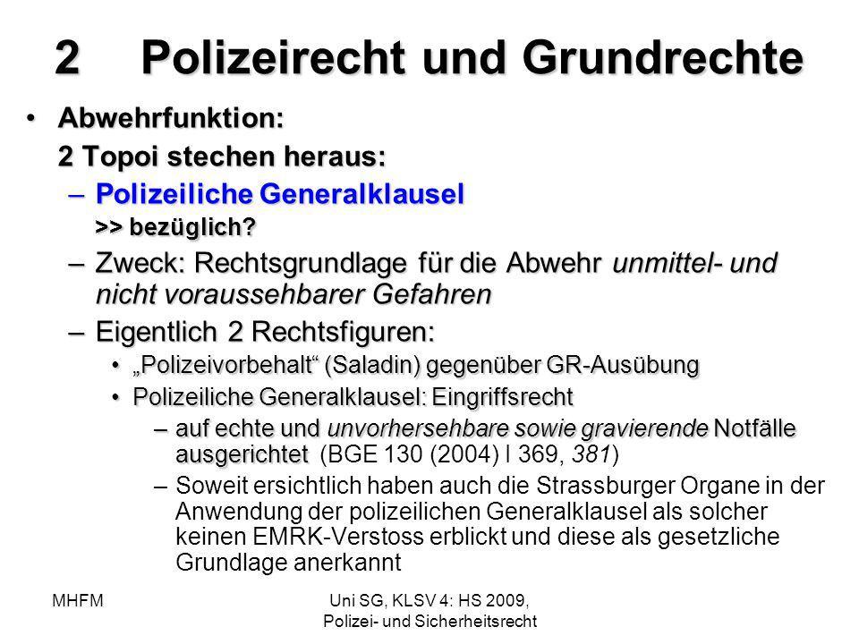 2 Polizeirecht und Grundrechte