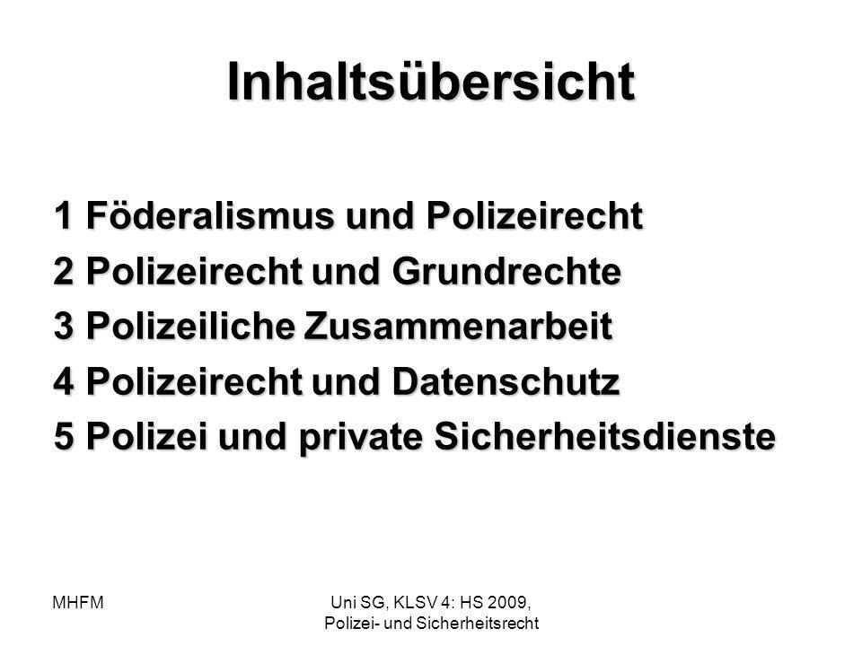 Uni SG, KLSV 4: HS 2009, Polizei- und Sicherheitsrecht