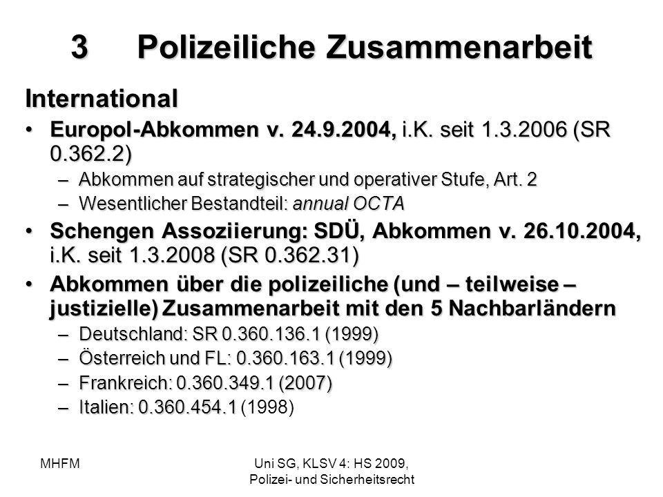 3 Polizeiliche Zusammenarbeit