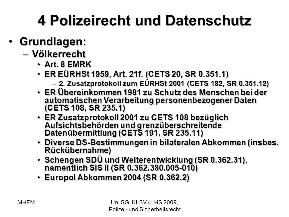 4 Polizeirecht und Datenschutz