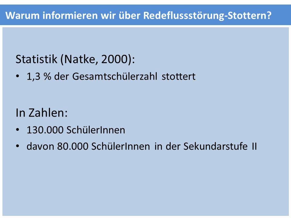 Statistik (Natke, 2000): In Zahlen: