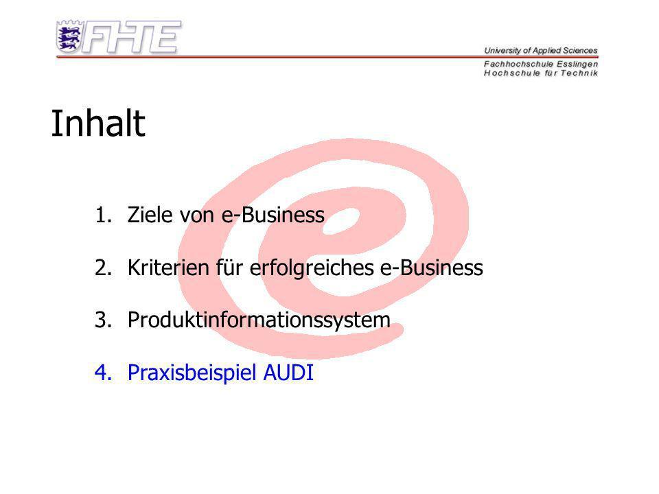 Inhalt Ziele von e-Business Kriterien für erfolgreiches e-Business