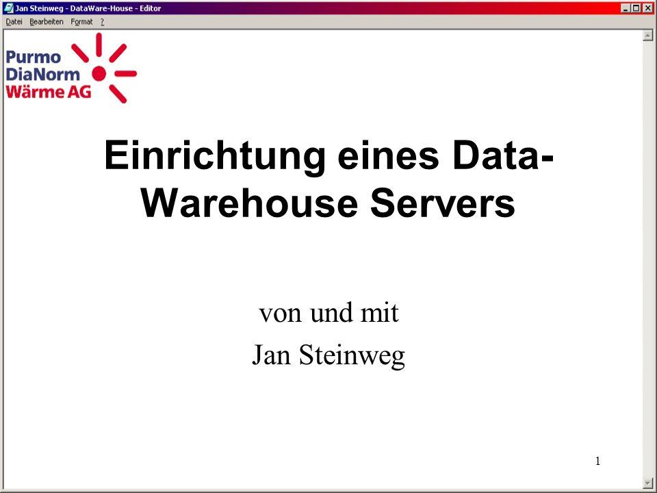 Einrichtung eines Data-Warehouse Servers