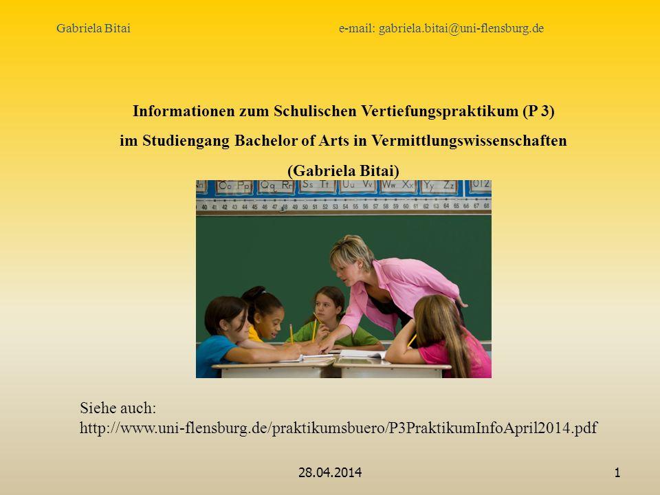 Informationen zum Schulischen Vertiefungspraktikum (P 3)