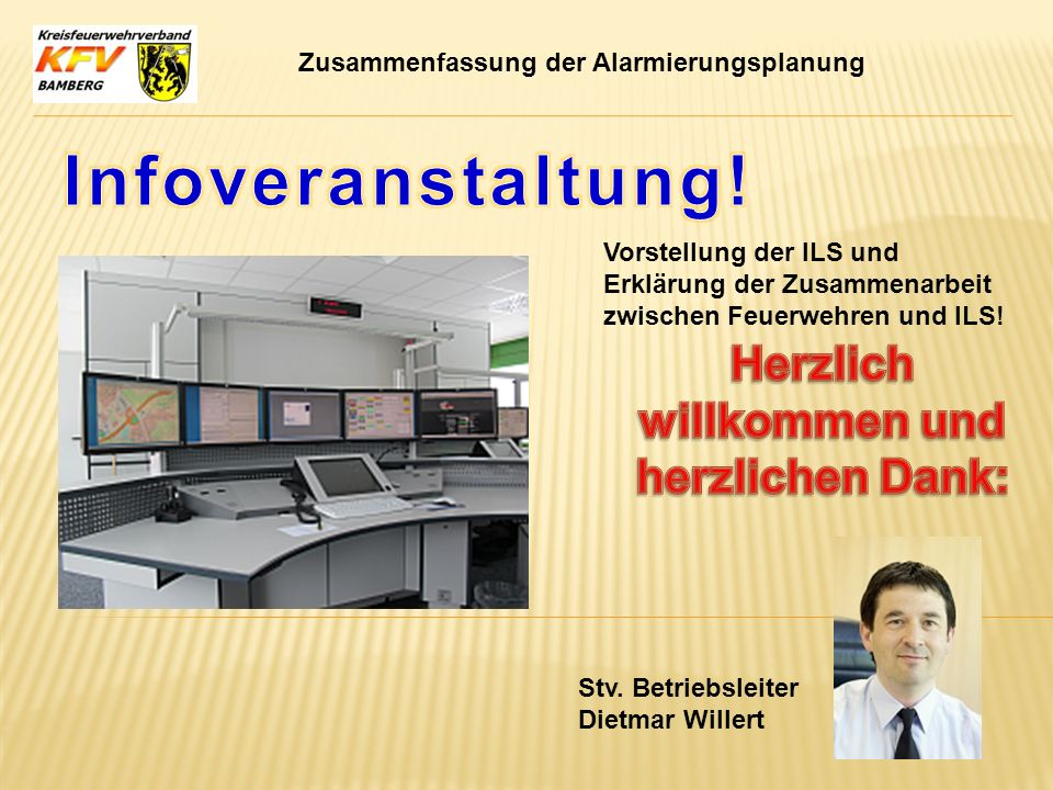 Herzlich willkommen und herzlichen Dank: