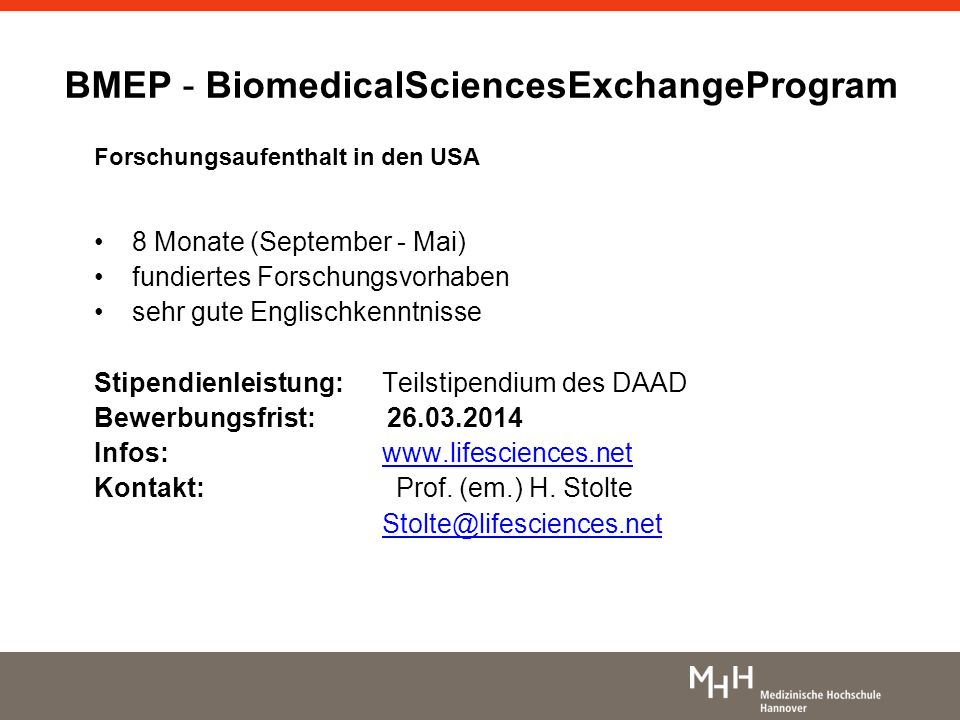 BMEP - BiomedicalSciencesExchangeProgram