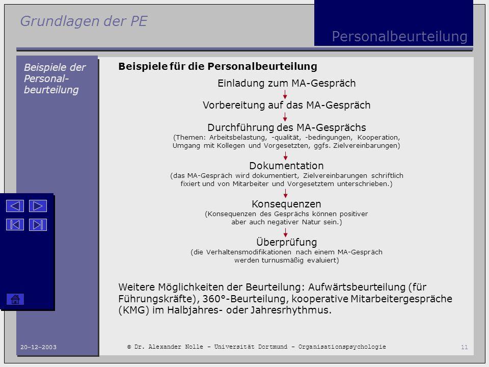 Personalbeurteilung Beispiele der Personal-beurteilung