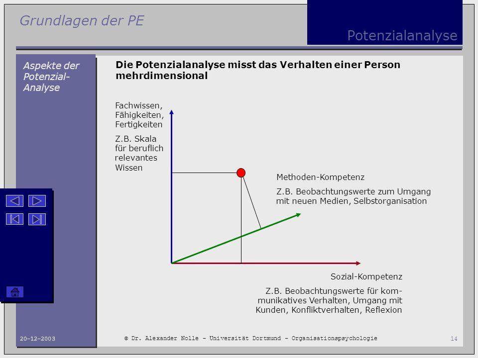 Potenzialanalyse Aspekte der Potenzial-Analyse
