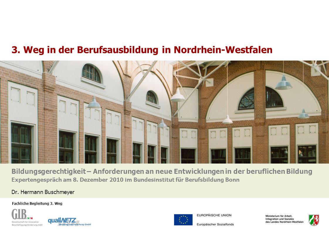 3. Weg in der Berufsausbildung in Nordrhein-Westfalen