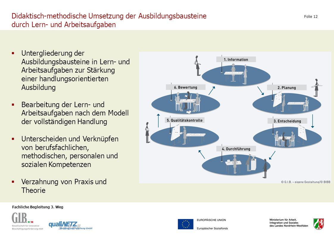 Didaktisch-methodische Umsetzung der Ausbildungsbausteine durch Lern- und Arbeitsaufgaben