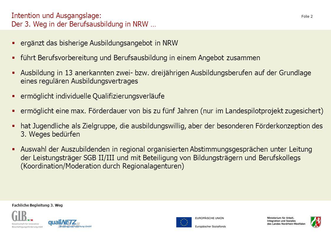 ergänzt das bisherige Ausbildungsangebot in NRW