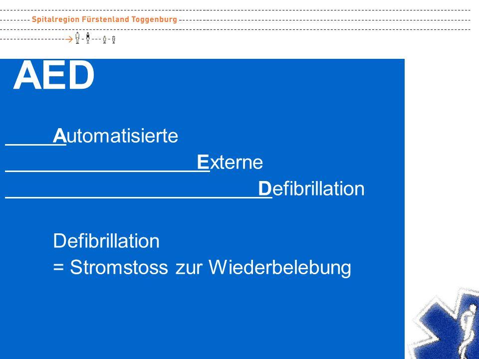 AED Automatisierte Externe Defibrillation