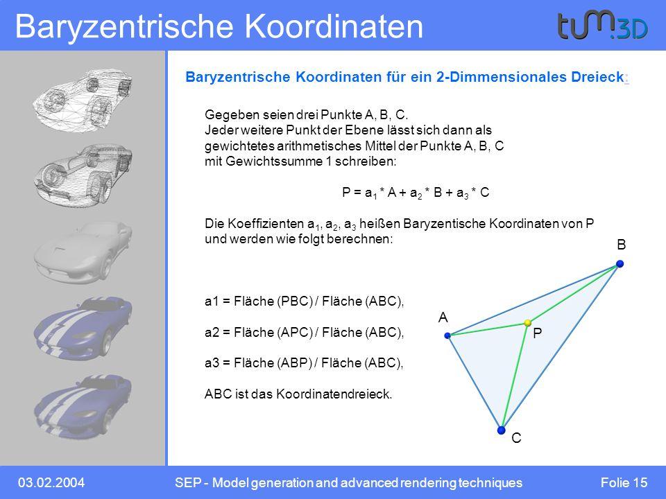 Baryzentrische Koordinaten