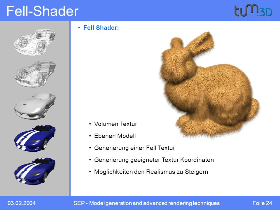 SEP - Model generation and advanced rendering techniques