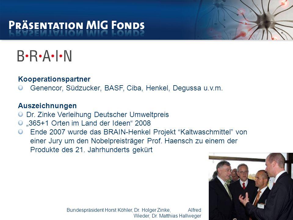 Genencor, Südzucker, BASF, Ciba, Henkel, Degussa u.v.m. Auszeichnungen