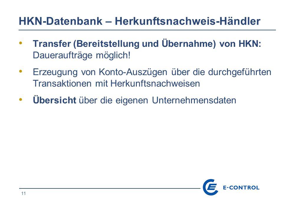 HKN-Datenbank – Herkunftsnachweis-Händler