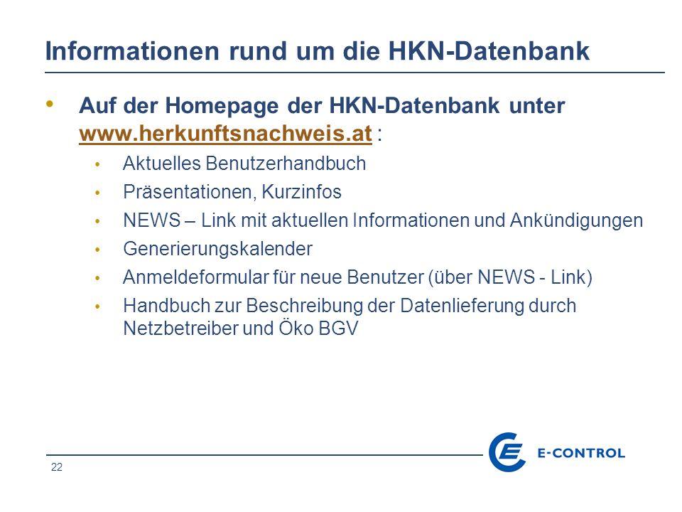 Informationen rund um die HKN-Datenbank