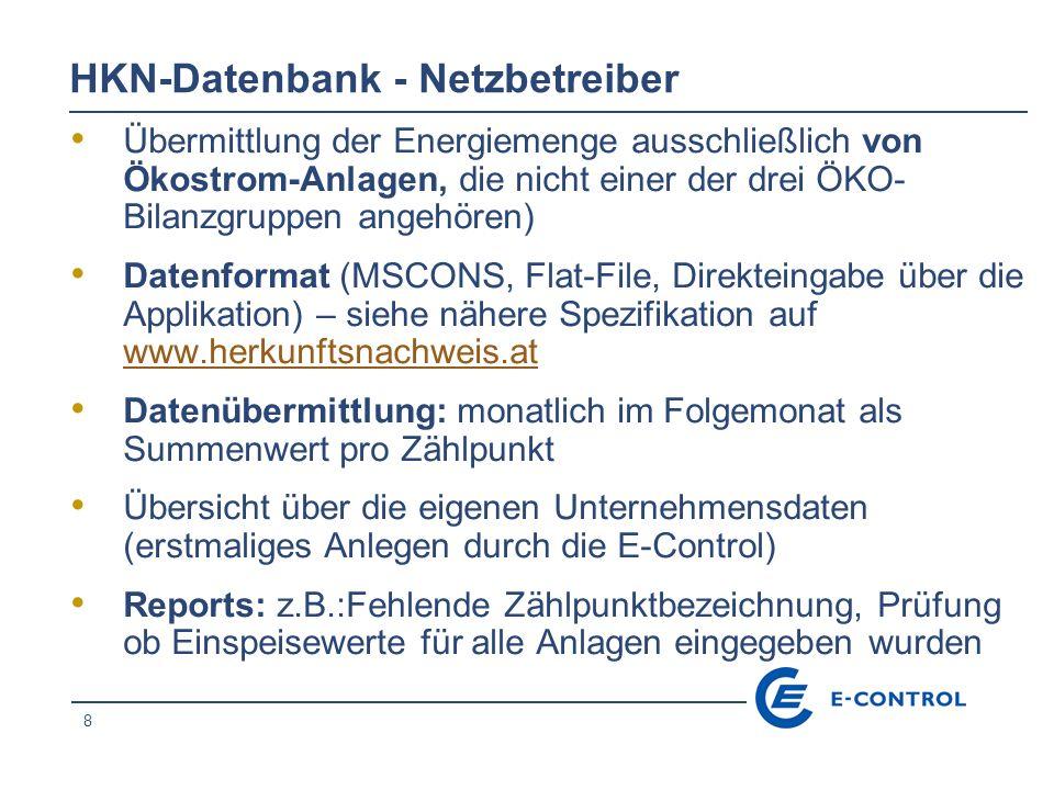 HKN-Datenbank - Netzbetreiber