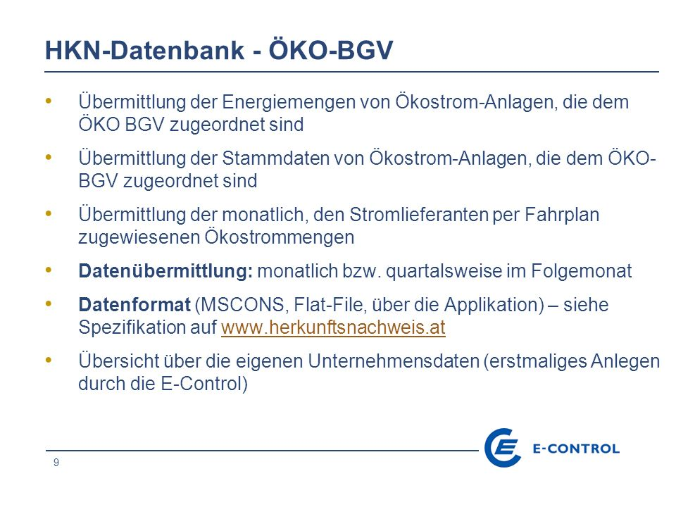 HKN-Datenbank - ÖKO-BGV