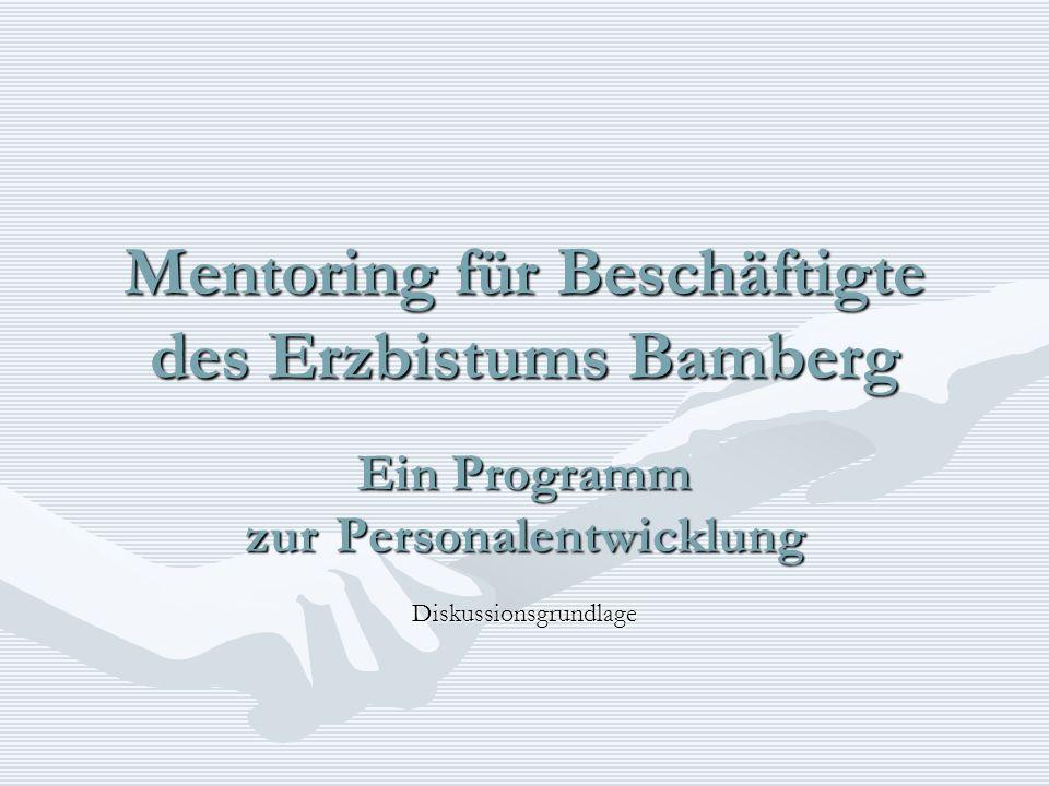 Mentoring für Beschäftigte des Erzbistums Bamberg