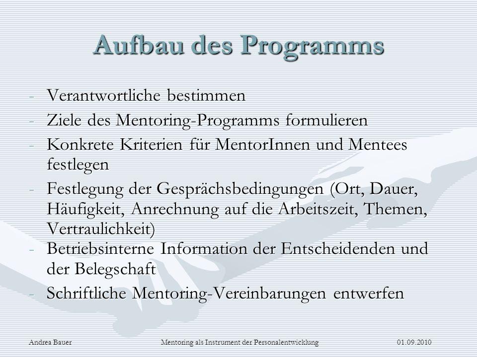 Mentoring als Instrument der Personalentwicklung 01.09.2010