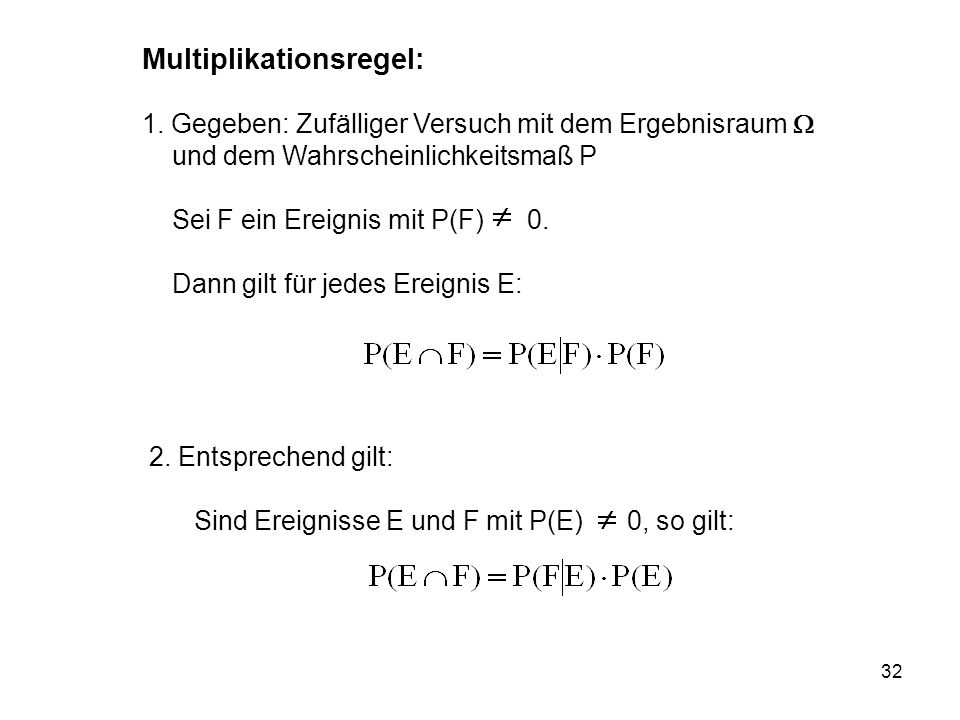 Multiplikationsregel: 1