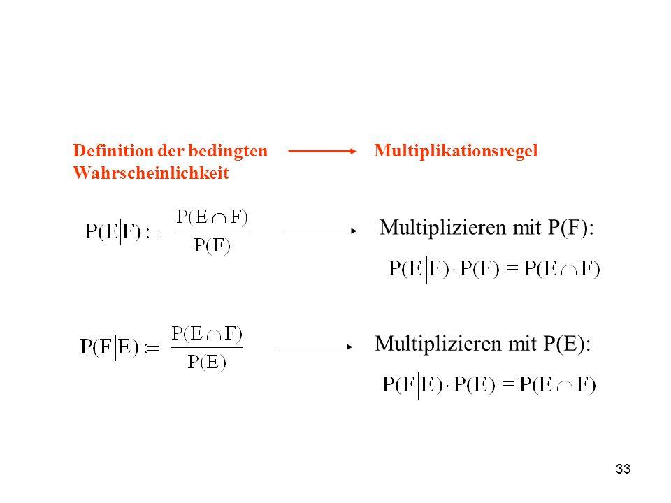 Multiplizieren mit P(F):