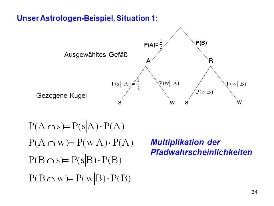 Multiplikation der Pfadwahrscheinlichkeiten
