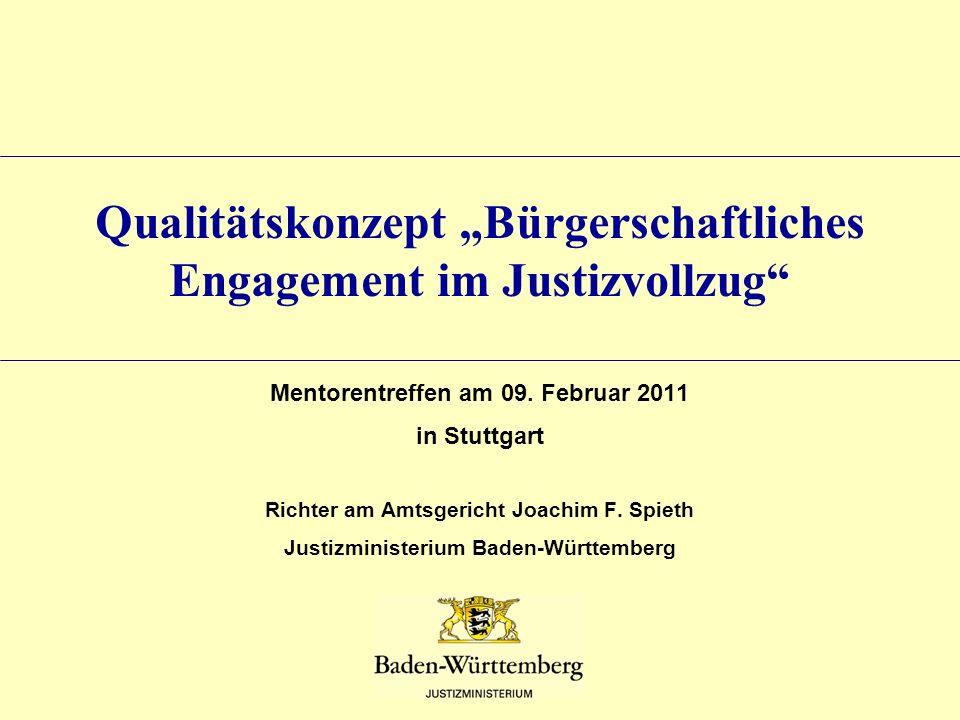 """Qualitätskonzept """"Bürgerschaftliches Engagement im Justizvollzug"""