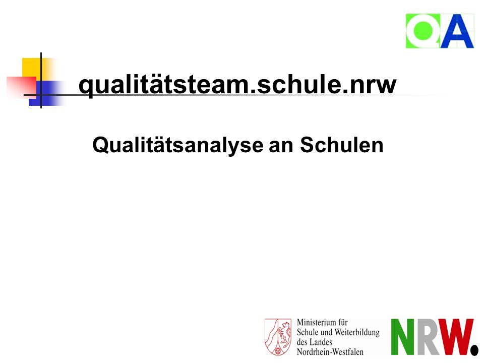 Qualitätsanalyse an Schulen