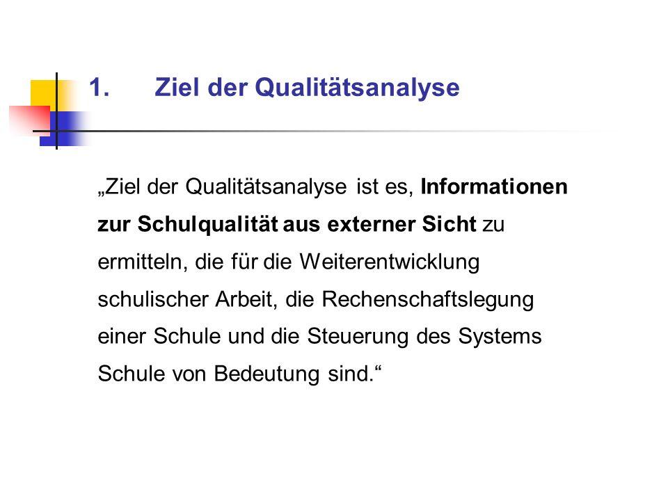 1. Ziel der Qualitätsanalyse