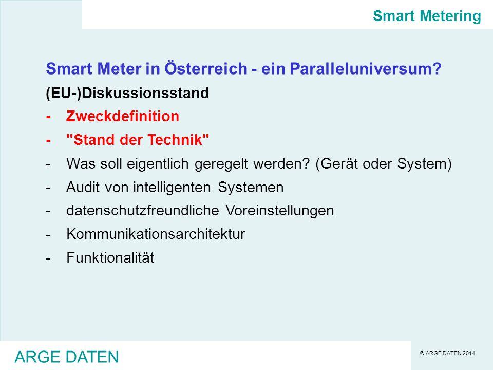 Smart Meter in Österreich - ein Paralleluniversum