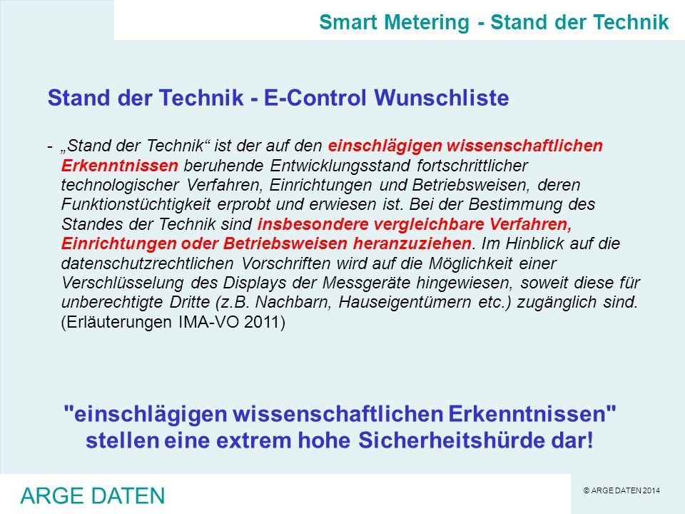 Stand der Technik - E-Control Wunschliste
