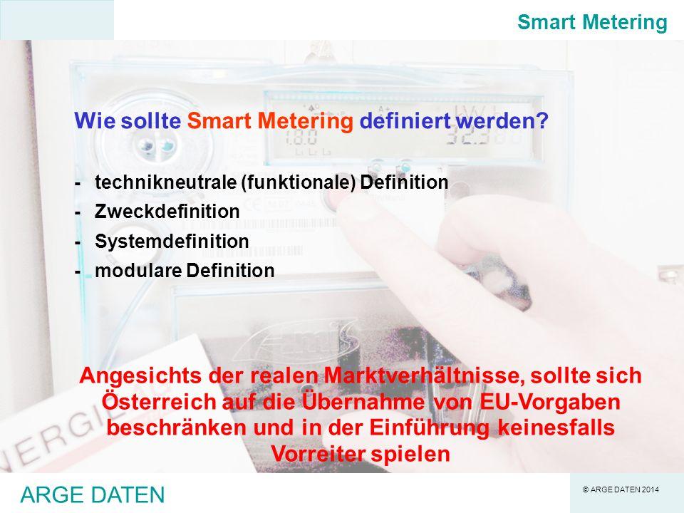 Wie sollte Smart Metering definiert werden