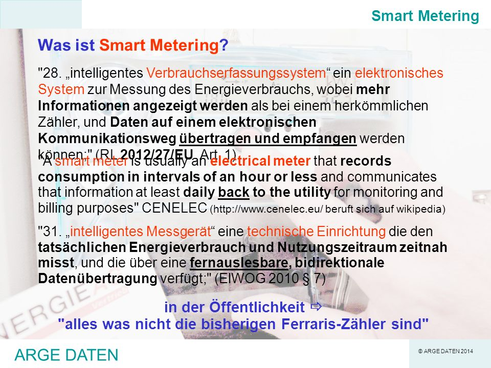 Was ist Smart Metering ARGE DATEN Smart Metering