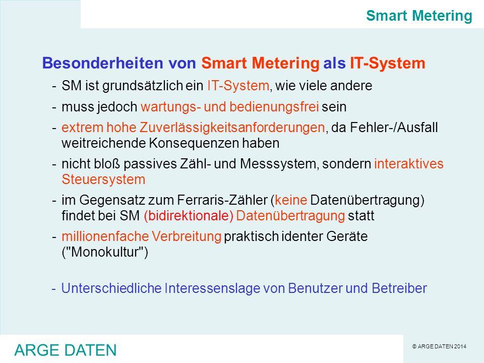 Besonderheiten von Smart Metering als IT-System
