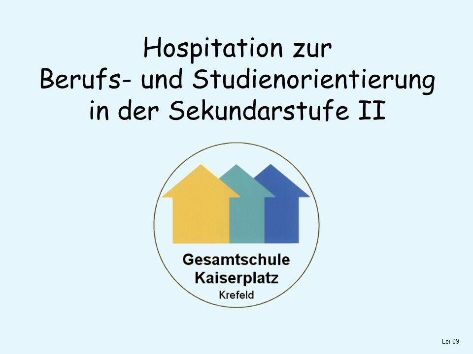 Hospitation zur Berufs- und Studienorientierung in der Sekundarstufe II