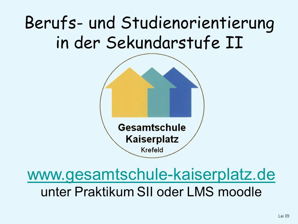 Berufs- und Studienorientierung in der Sekundarstufe II