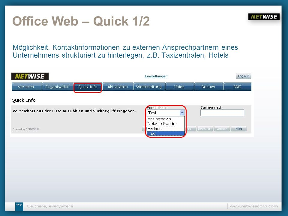 Office Web – Quick 1/2