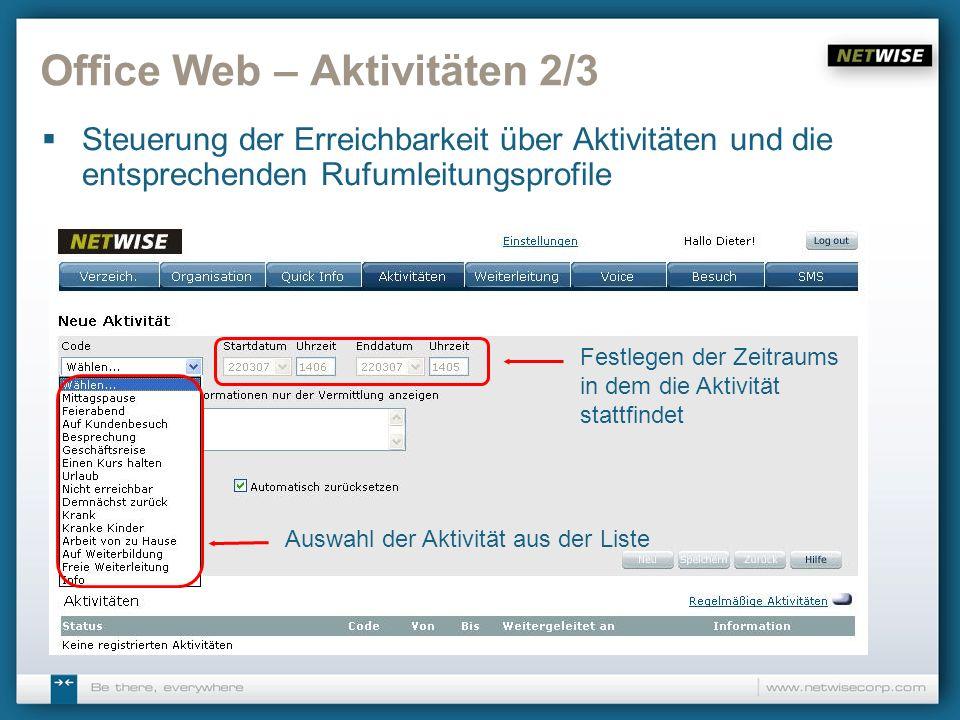 Office Web – Aktivitäten 2/3