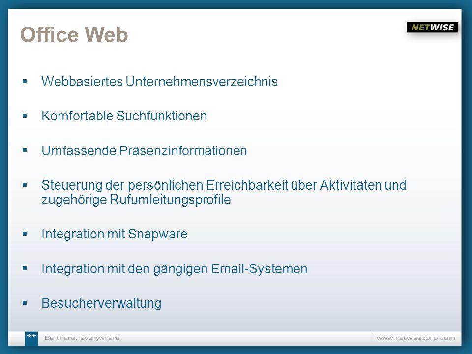 Office Web Webbasiertes Unternehmensverzeichnis