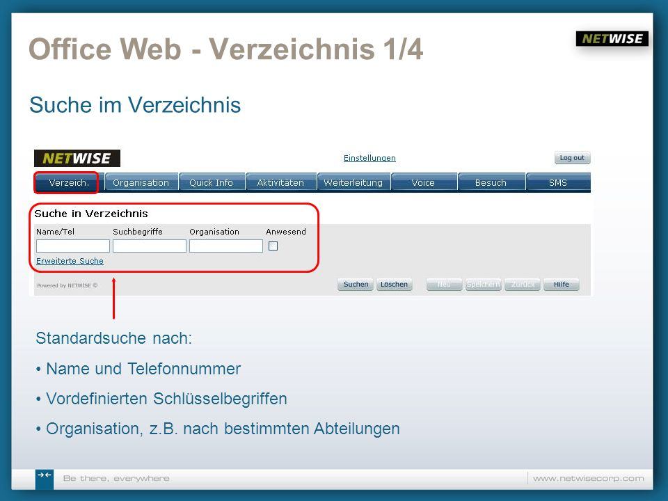 Office Web - Verzeichnis 1/4