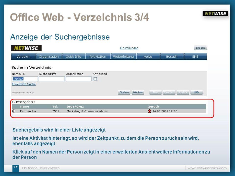 Office Web - Verzeichnis 3/4