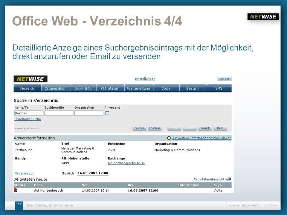 Office Web - Verzeichnis 4/4