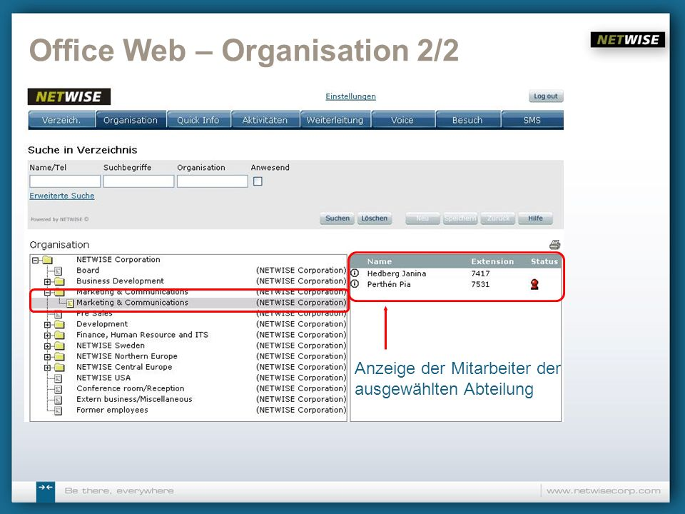 Office Web – Organisation 2/2