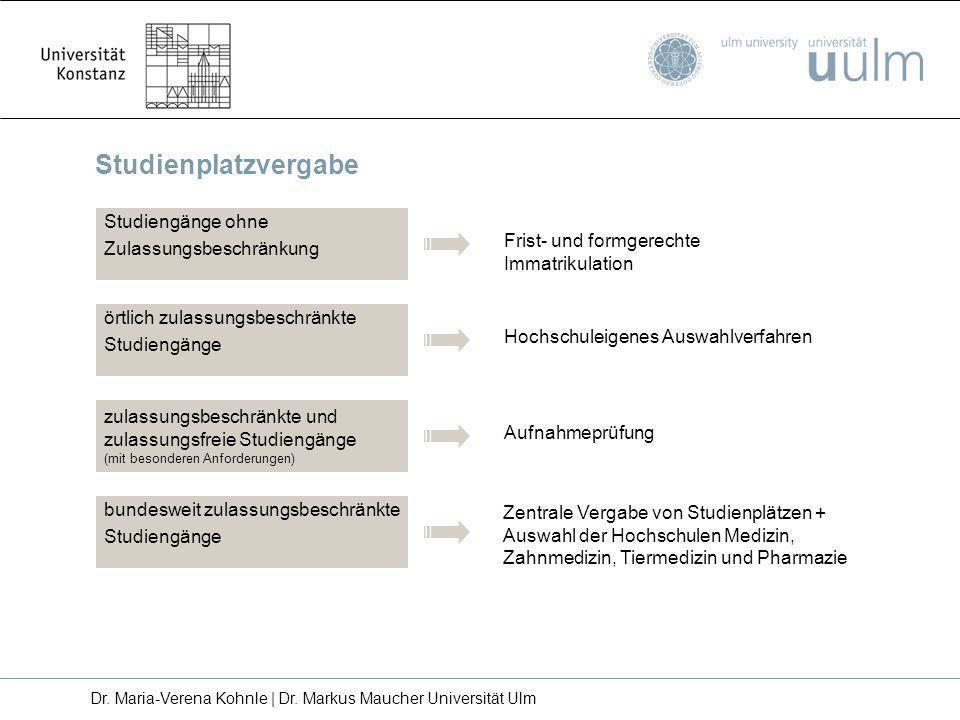 Dr. Maria-Verena Kohnle | Dr. Markus Maucher Universität Ulm