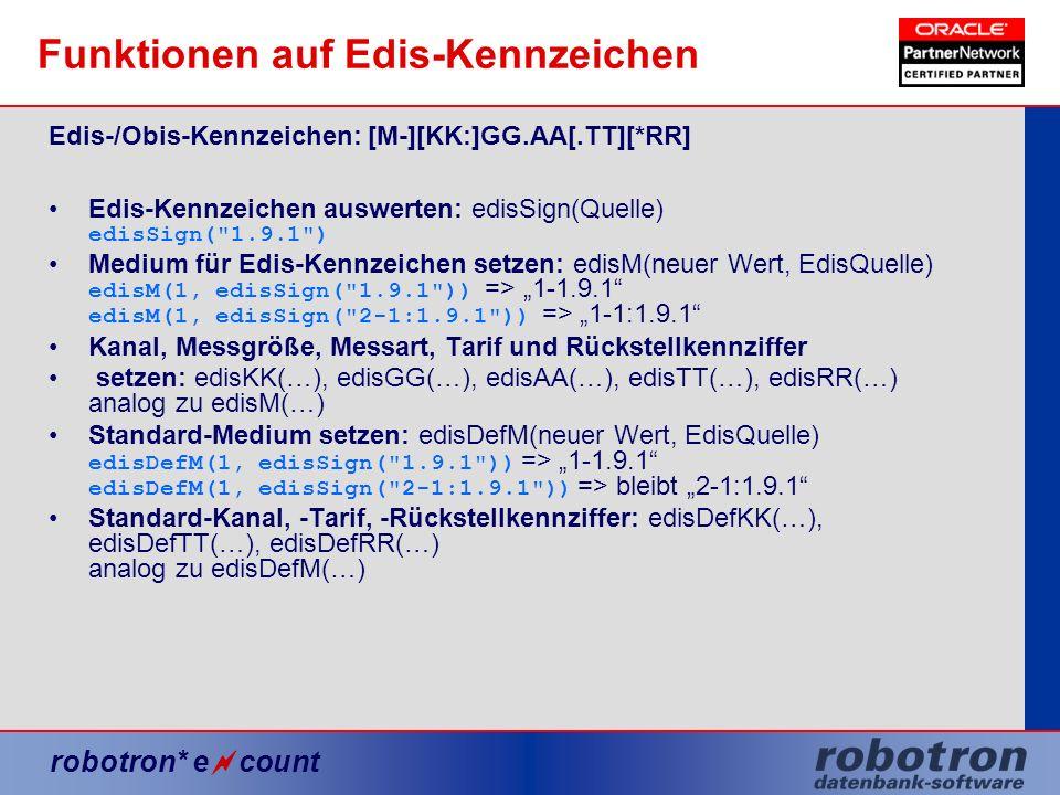 Funktionen auf Edis-Kennzeichen