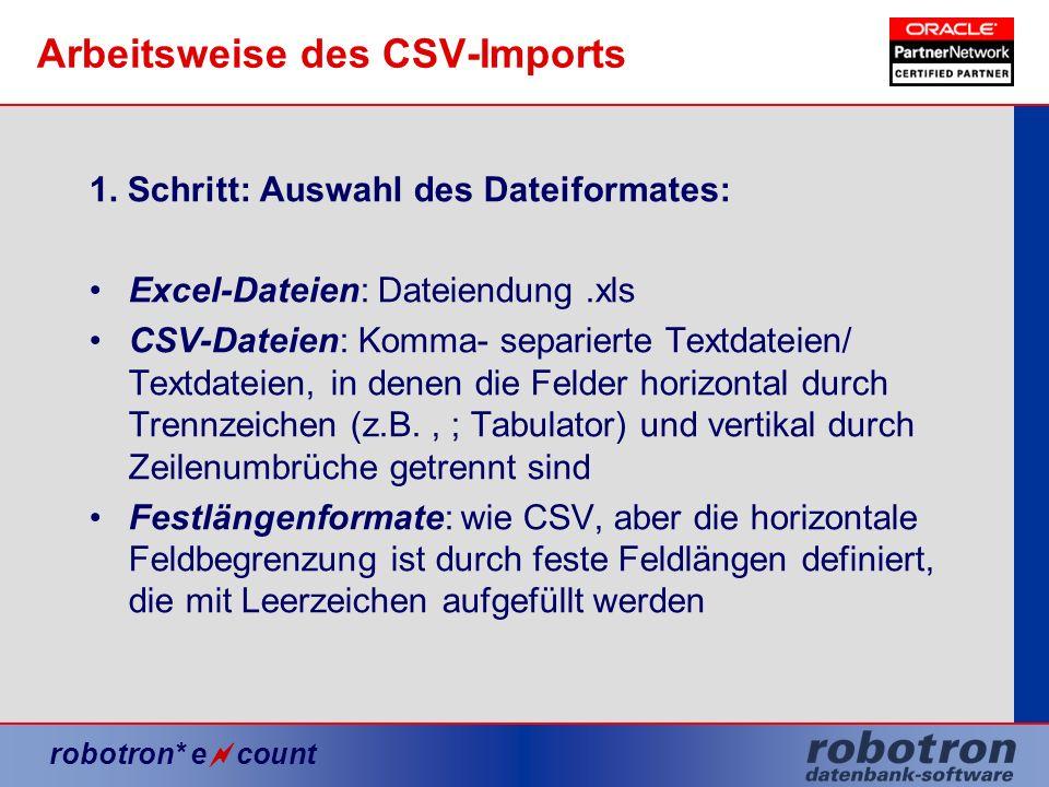 Arbeitsweise des CSV-Imports
