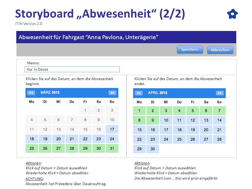 """Storyboard """"Abwesenheit (2/2) iTIXI Version 2.0"""