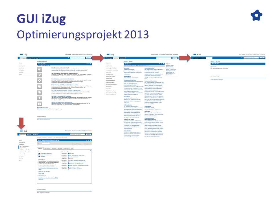 GUI iZug Optimierungsprojekt 2013